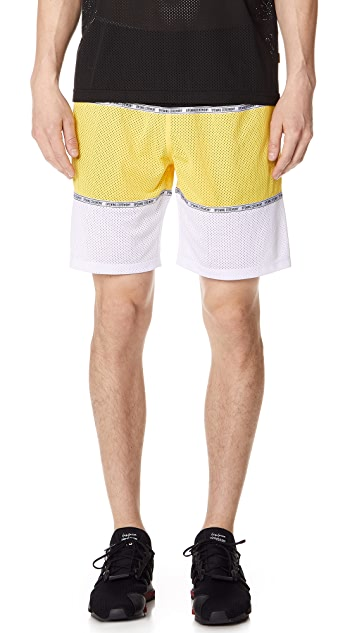 Opening Ceremony Colorblock Mesh Shorts