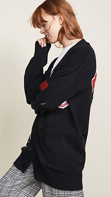 Opening Ceremony Long Varsity Cardigan