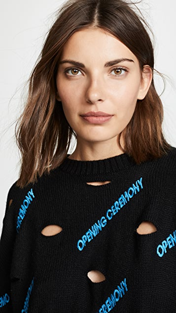 Opening Ceremony Allover Logo Sweater