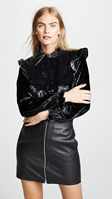 Opening Ceremony Velvet Twill Blouse