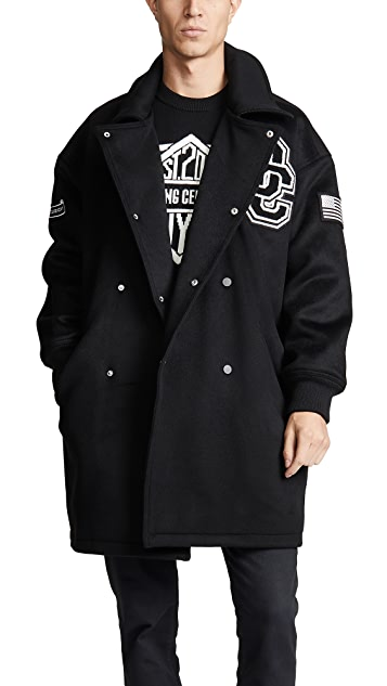 Opening Ceremony Double Breasted Varsity Coat