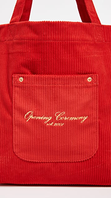 Opening Ceremony Corduroy Big Pocket Tote