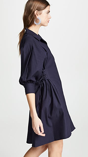 Opening Ceremony Lace Up Shirtdress