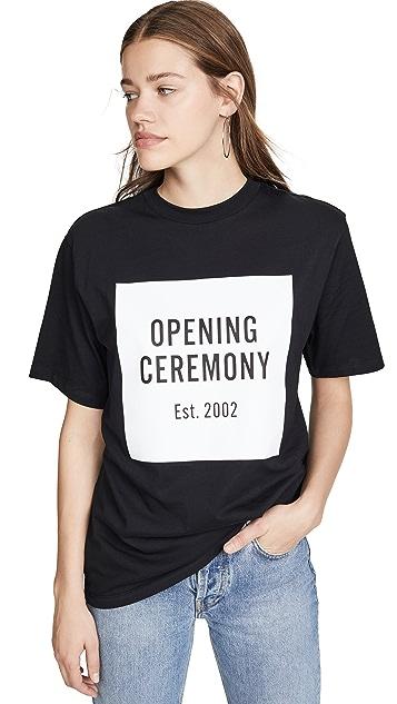 Opening Ceremony Box 徽标 T 恤