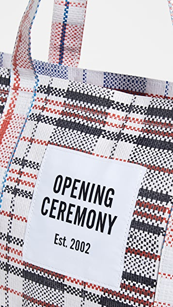 Opening Ceremony Plaid Medium Tote Bag