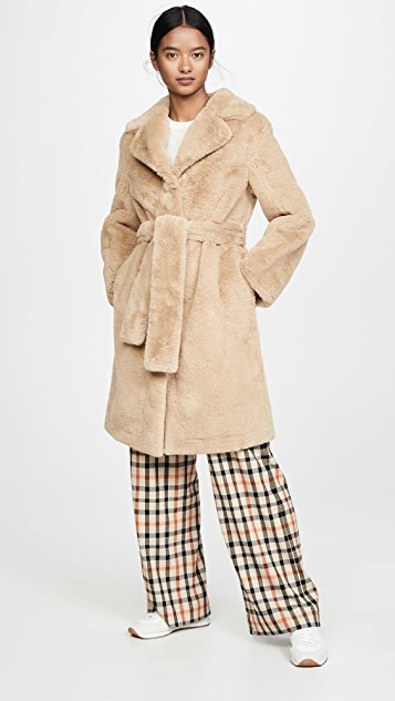 Opening Ceremony Reversible Faux Fur Coat