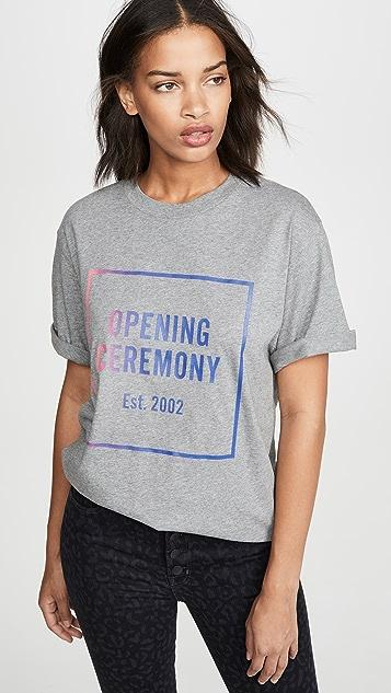 Opening Ceremony Свободная футболка унисекс с логотипом и с эффектом «омбре»