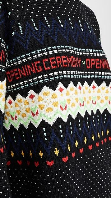 Opening Ceremony Свитер с жаккардовым узором и длинными рукавами