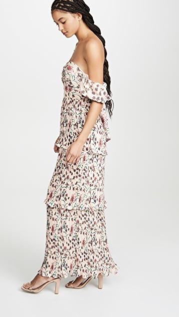 OPT 花瓣图案连衣裙