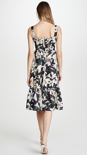 OPT 黑色花卉图案连衣裙