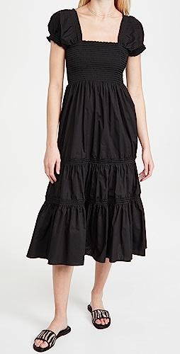 OPT - Square Neck Smocked Maxi Dress