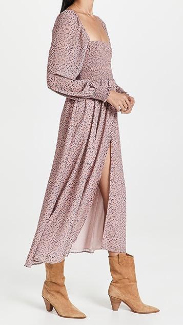 OPT Classic Smocked Maxi Dress