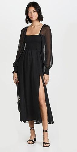 OPT - Classic Smocked Maxi Dress