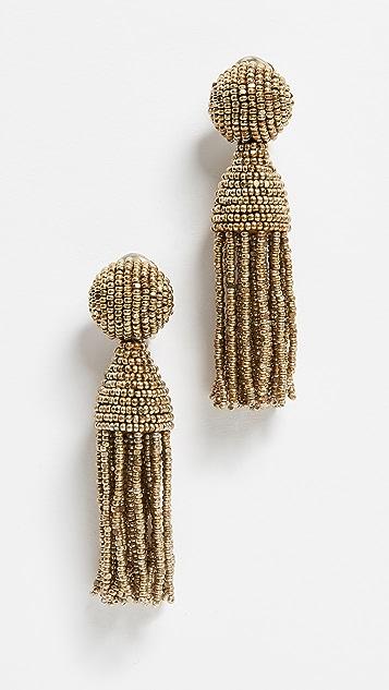Oscar De La Renta Classic Short Tassel Earrings Shopbop
