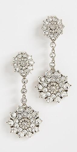 Oscar de la Renta - Classic Jeweled Drop Earrings