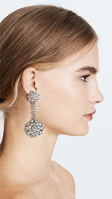 Oscar de la Renta Classic Jeweled Drop Earrings