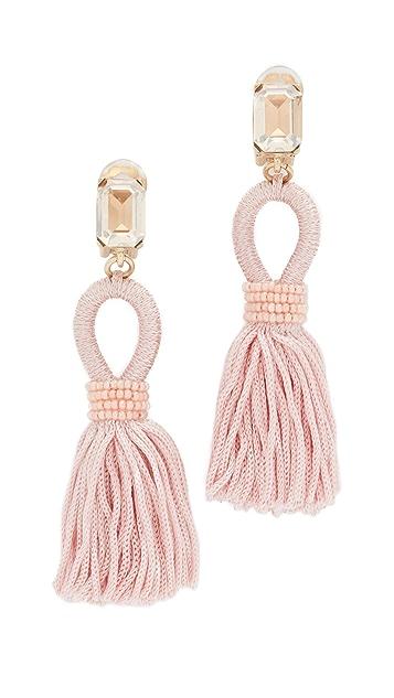 3ea9bcd1a Oscar de la Renta Short Silk Tassel Earrings | SHOPBOP