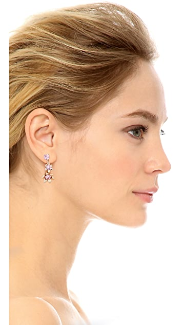 Oscar de la Renta Lily Back Drop Earrings
