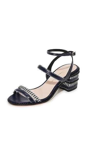 Oscar de la Renta Marcel Block Heel Sandals