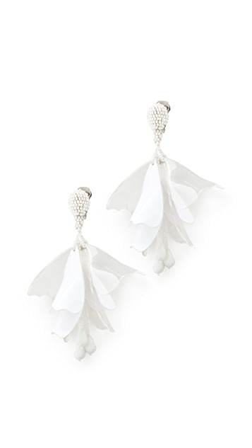 Oscar de la Renta Impatens Clip On Earrings