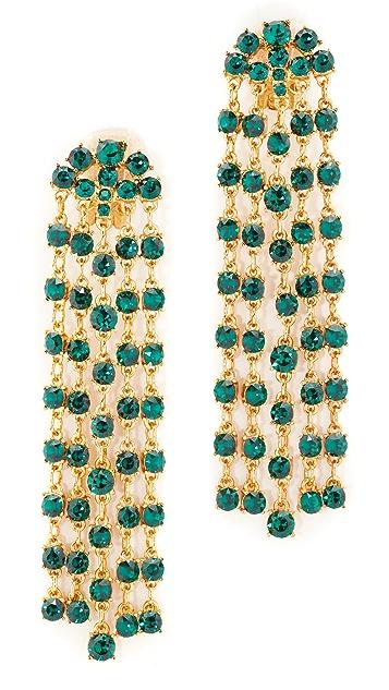 Oscar de la Renta Crystal Tassel Earrings