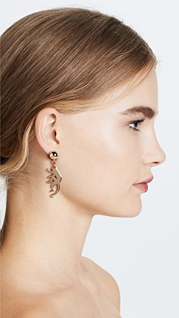 Oscar de la Renta Small Monkey Earrings