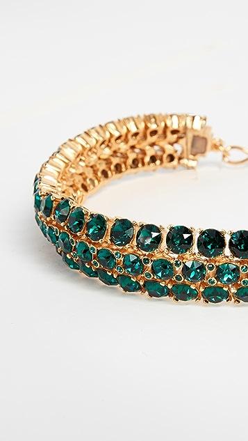 Oscar de la Renta Crystal Cluster Necklace
