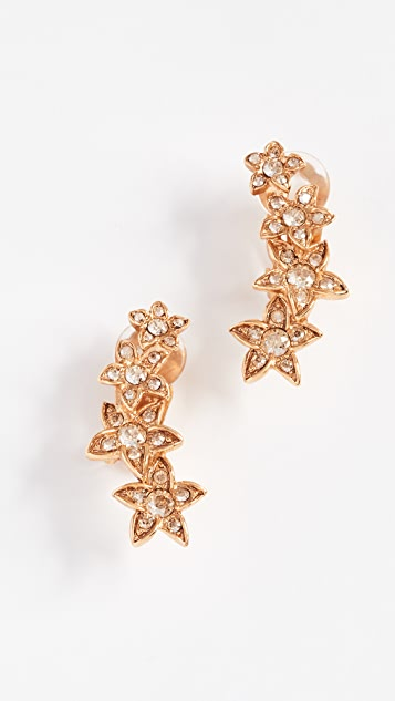Oscar de la Renta Star Fish Clip On Earrings