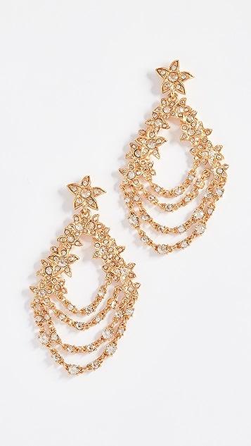 Oscar de la Renta Star Fish Drop Earrings