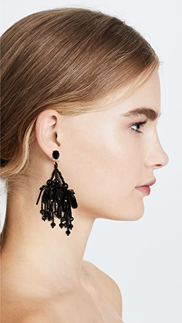 Oscar de la Renta Wilting Flower Drop Earrings