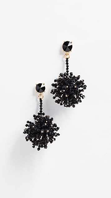Oscar de la Renta Firework Drop Earrings - Black