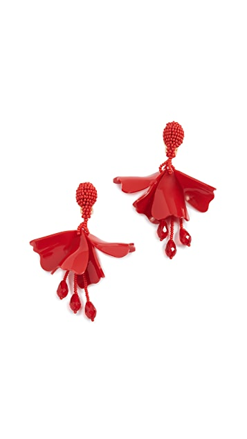 Oscar de la Renta Small Impatiens Earrings