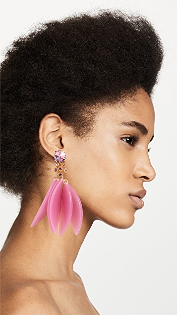 Oscar de la Renta Petal Leaves Earrings