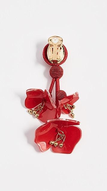 Oscar de la Renta Falling Flower Earrings