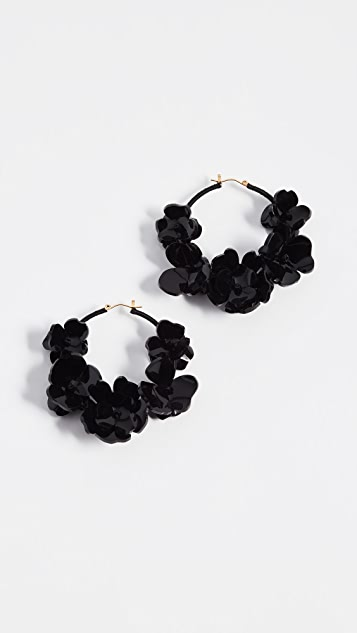 Oscar de la Renta Flower Garden Hoop Earrings