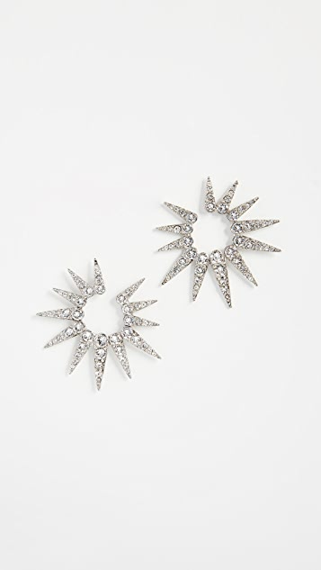 Oscar de la Renta Sea Urchin Crystal Earrings