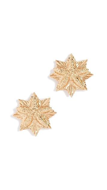 Oscar de la Renta Sea Charm Button Earrings