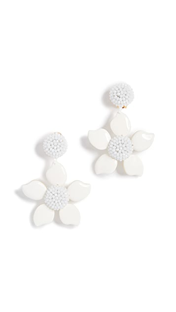 Oscar De La Renta Bold Enamel Flower Earrings blJN7i