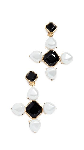 Oscar de la Renta Baroque Earrings