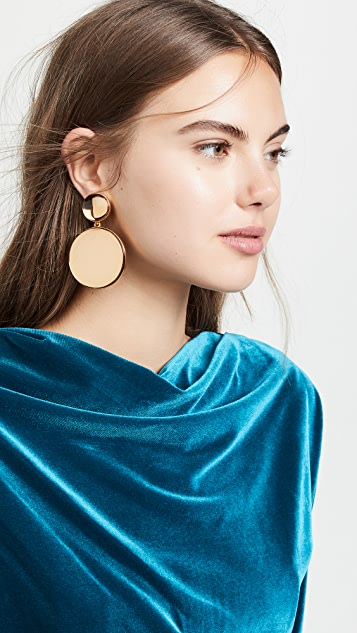 Oscar de la Renta Bold Resin Mirror Drop Earrings