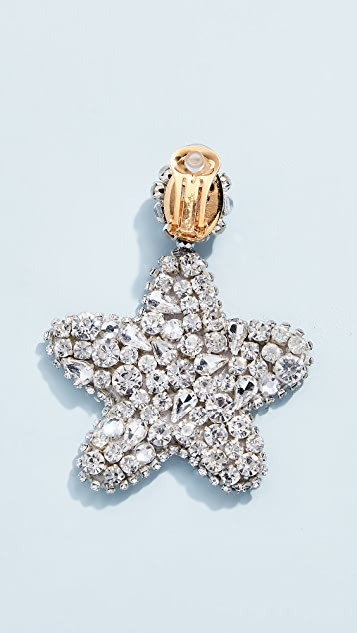 Oscar de la Renta Crystal Star Earrings