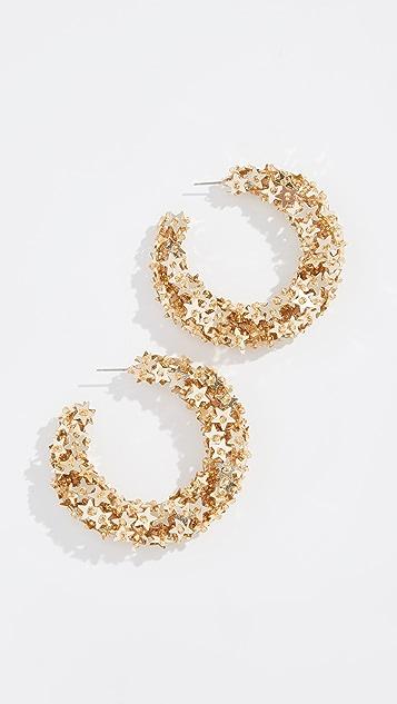 Oscar De La Renta Star Sequin Earrings GcKSWcEu4