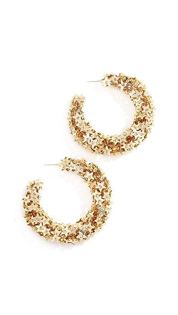 Oscar de la Renta Star Sequin Earrings
