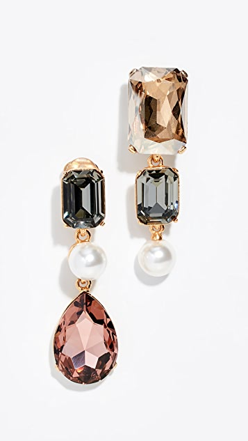 Oscar de la Renta Bold Crystal Earrings