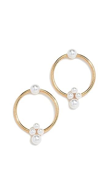 Oscar de la Renta Imitation Pearl Hoop Earrings