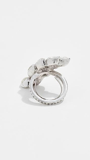 Oscar de la Renta Navette Pave Ring