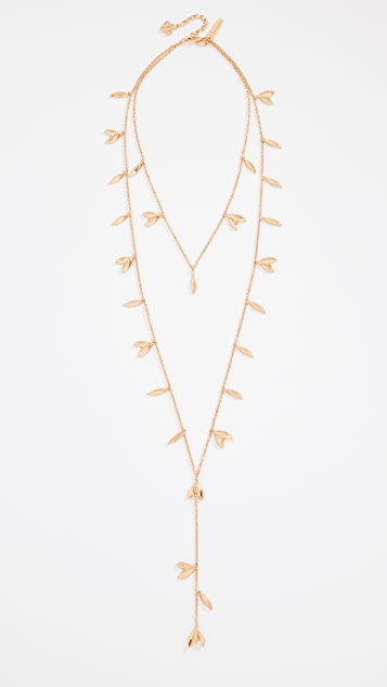Oscar de la Renta Dot Leaf Necklace