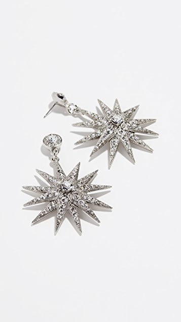 Oscar de la Renta Classic Crystal Star P Earrings