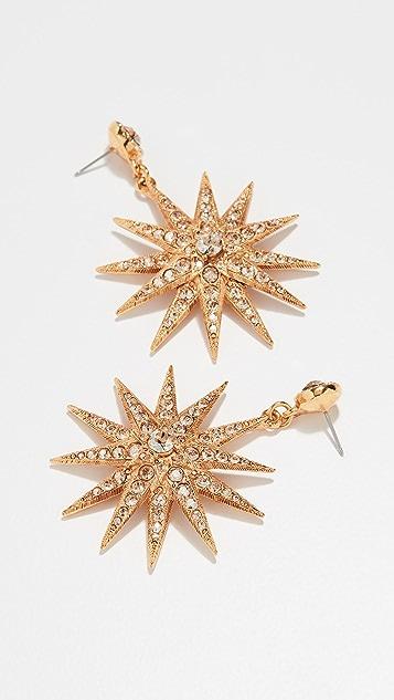 OscardelaRenta Классические серьги Star P с кристаллами
