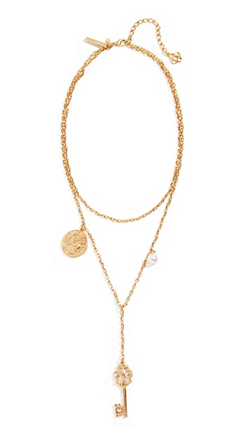 Oscar de la Renta Charm Key Necklace
